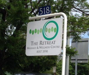 the retreat sign